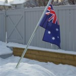 Australian Flag on top of YWAM Ministry Centre in Canada