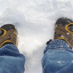 Austalian YWAMers wearing flip flops in the snow!
