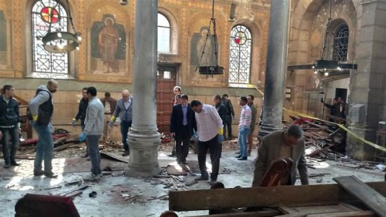 The aftermath and result of a Bomb that Exploded next to St Mark's Cathedral