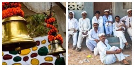 Hindu Prayer Bells and Group