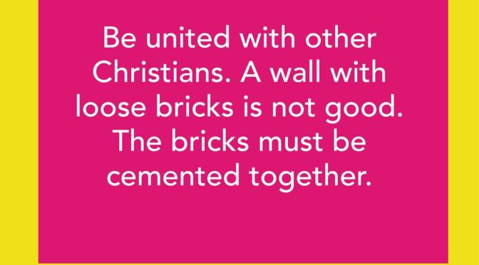 Unity - Building Bridges - YWAM News that Bill finds Interesting